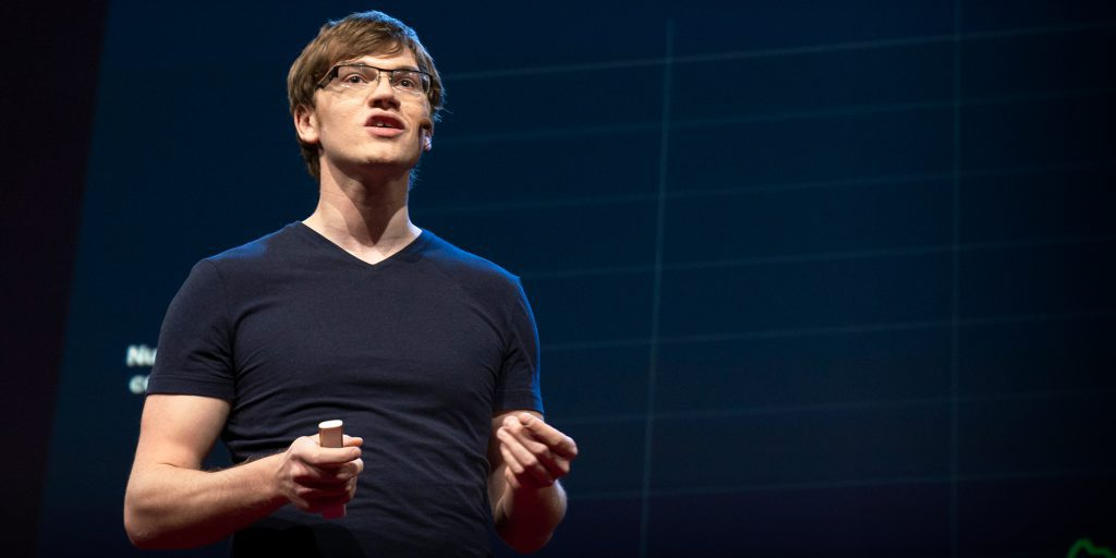Will MacAskill speaks at TED2018 - The Age of Amazement, April 10 - 14, 2018, Vancouver, BC, Canada. Photo: Bret Hartman / TED